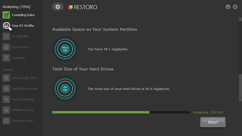 Available system space